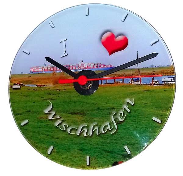 Glas Uhr Wischhafen